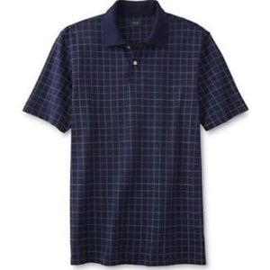 Arrow Men's Dover Dress Golf Shirt Navy